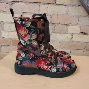 Mossimo Supply Co. Shoes - Mossimo Floral Combat/ Ankle Boots